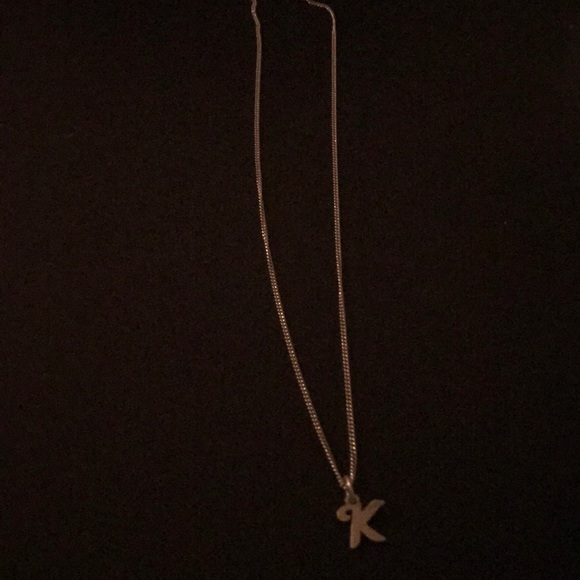 personal letter necklace with k